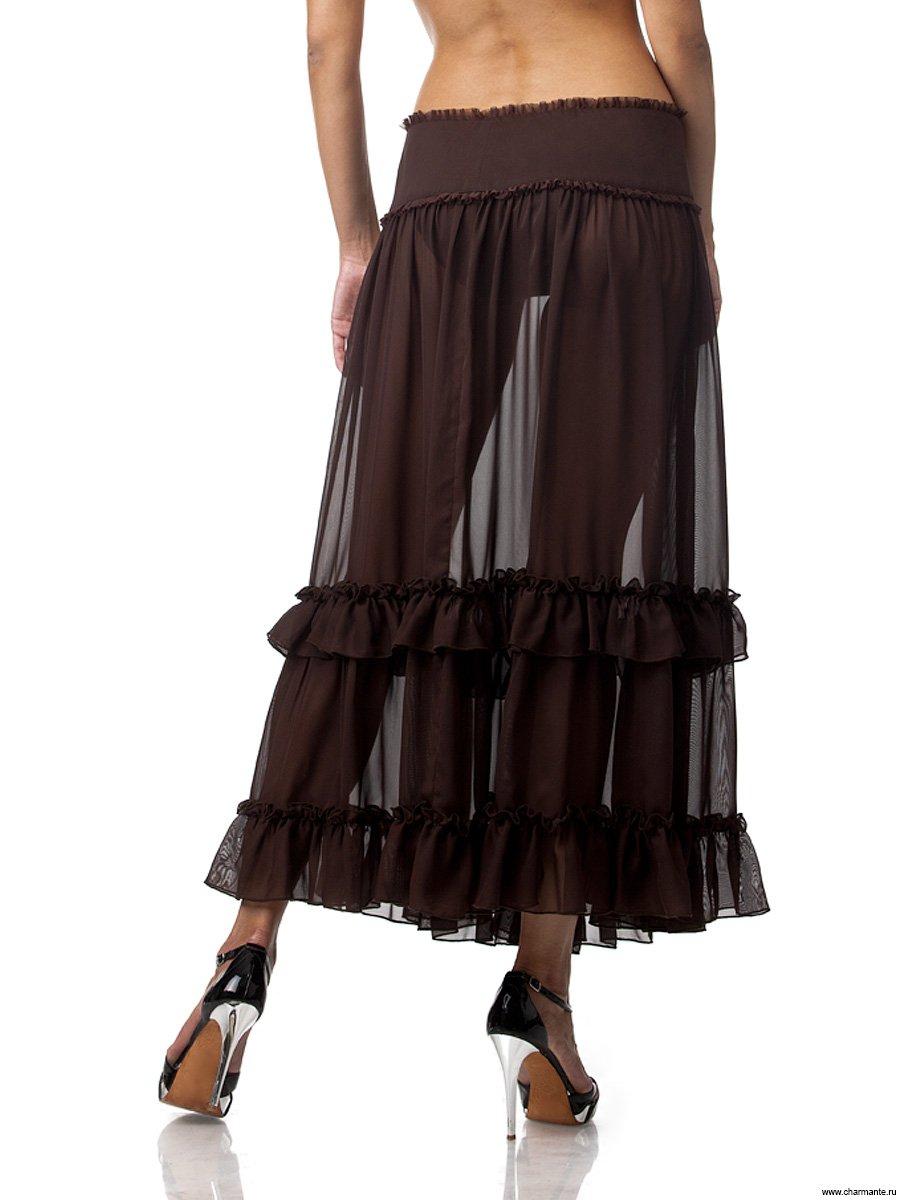 Длинная юбка с рюшами 3