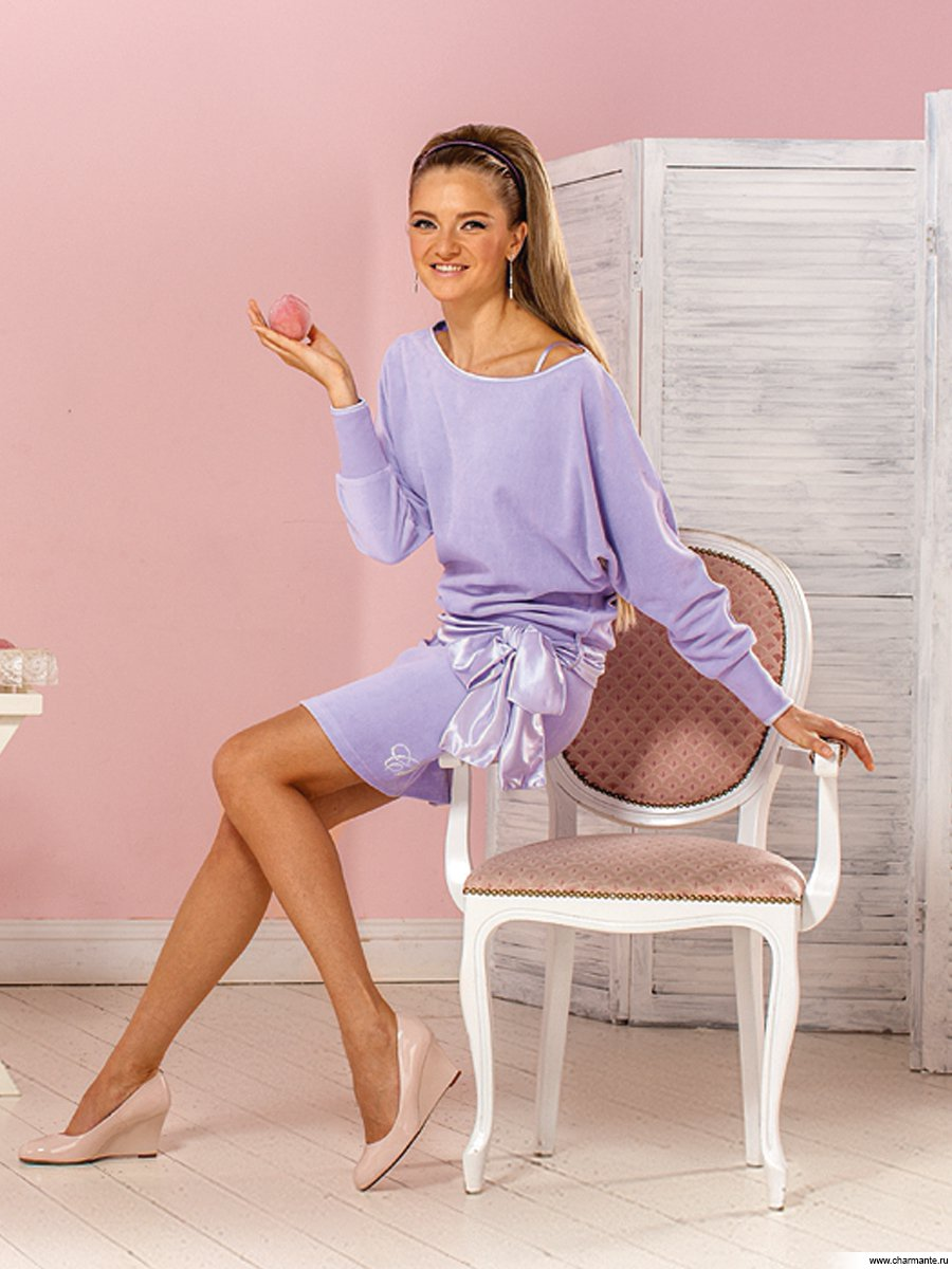 Женский спортивный костюм с юбкой