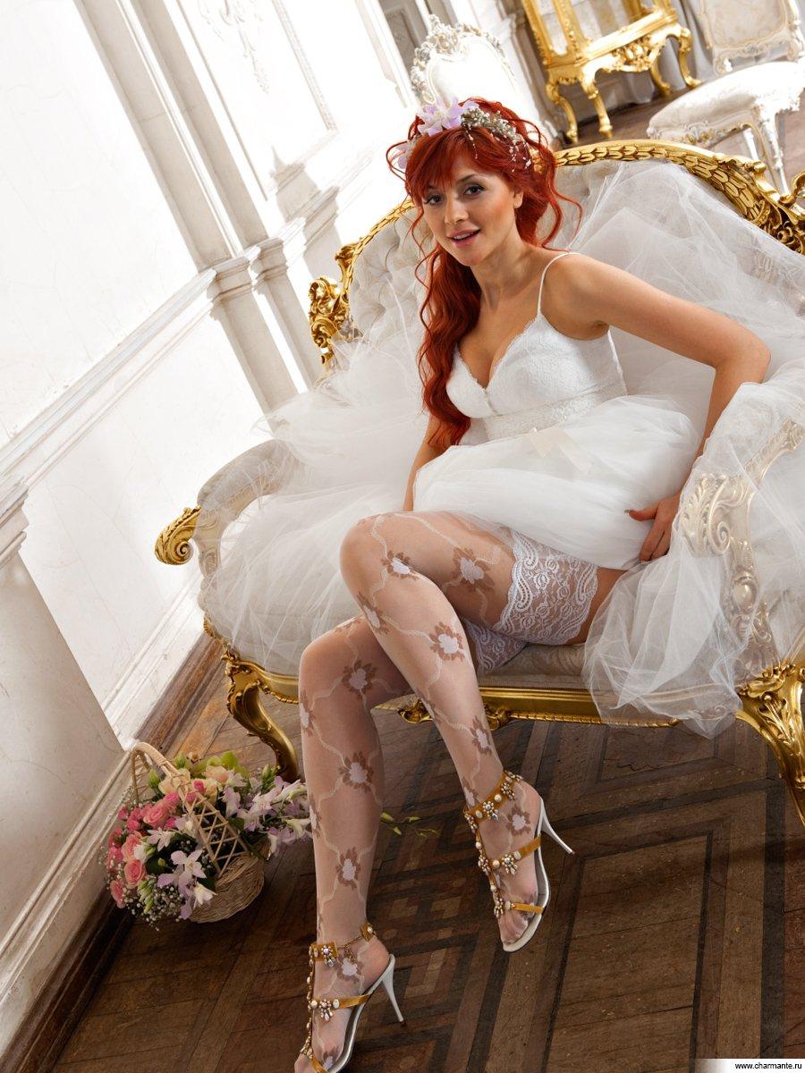 Русское порно в чулках невесты