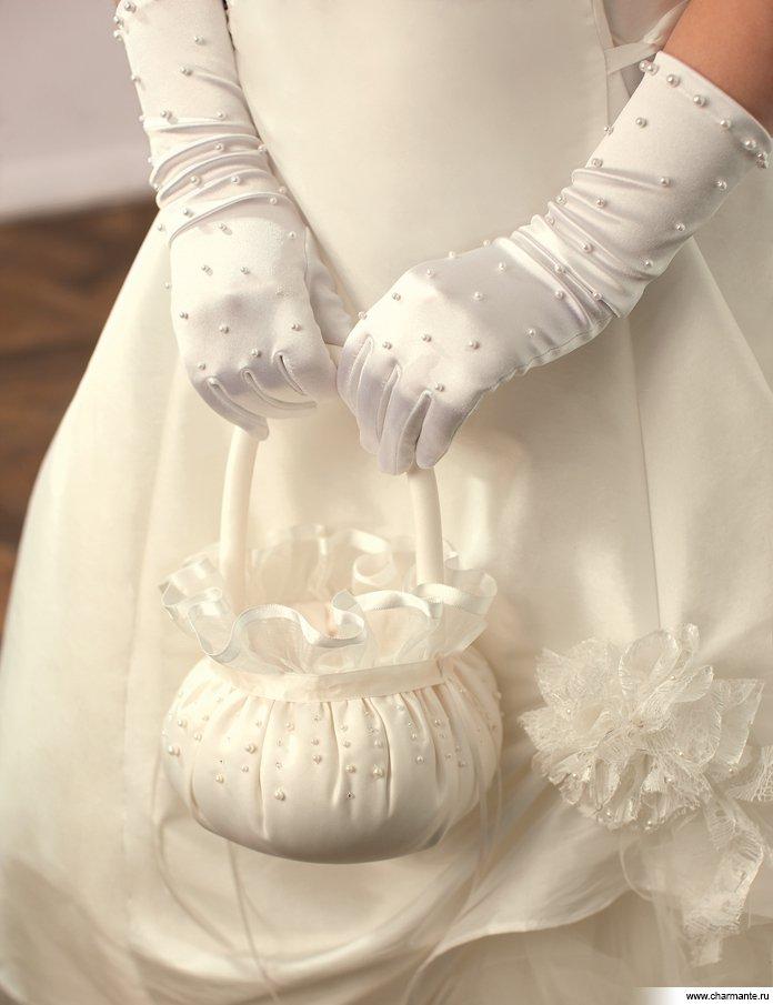 Праздничные перчатки для девочки своими руками