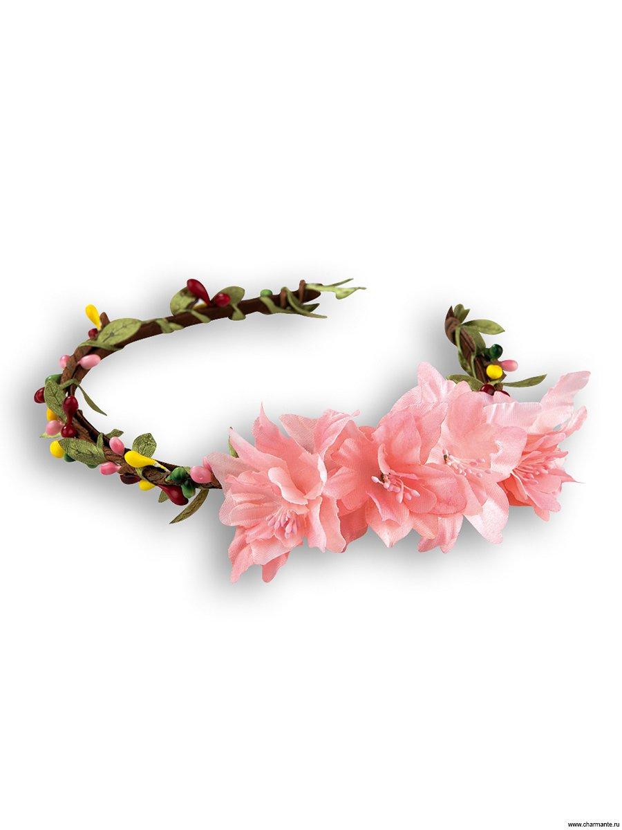 Ободок из бумаги с цветами