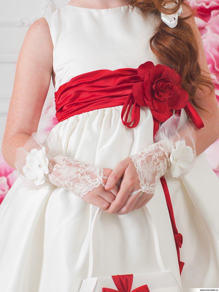 Детское платье с перчатками