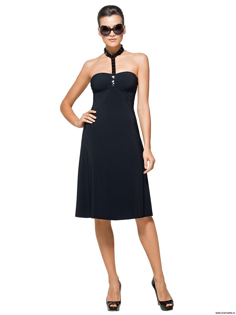 АКЦИЯ! Платье пляжное, цвет: чёрный