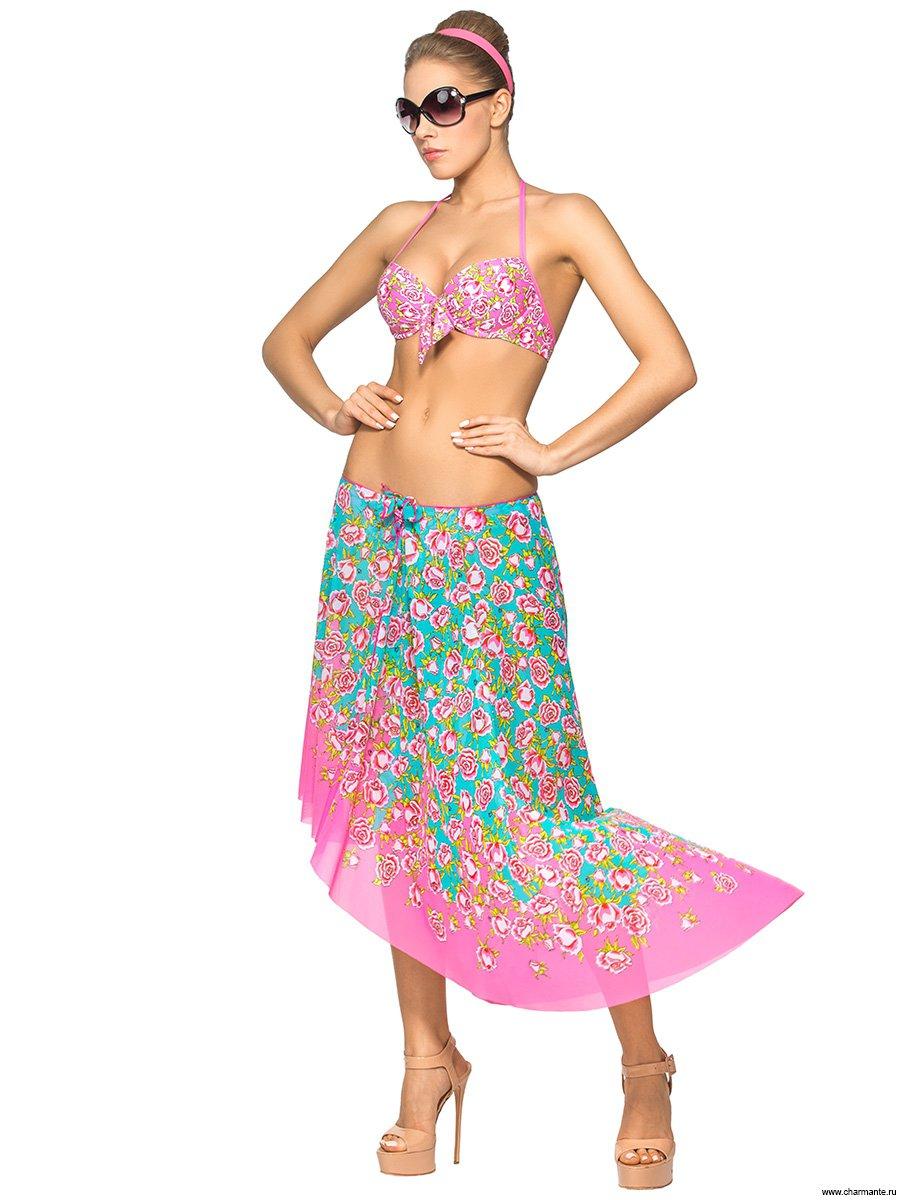 АКЦИЯ! Юбка пляжная для женщин, цвет: мультиколор