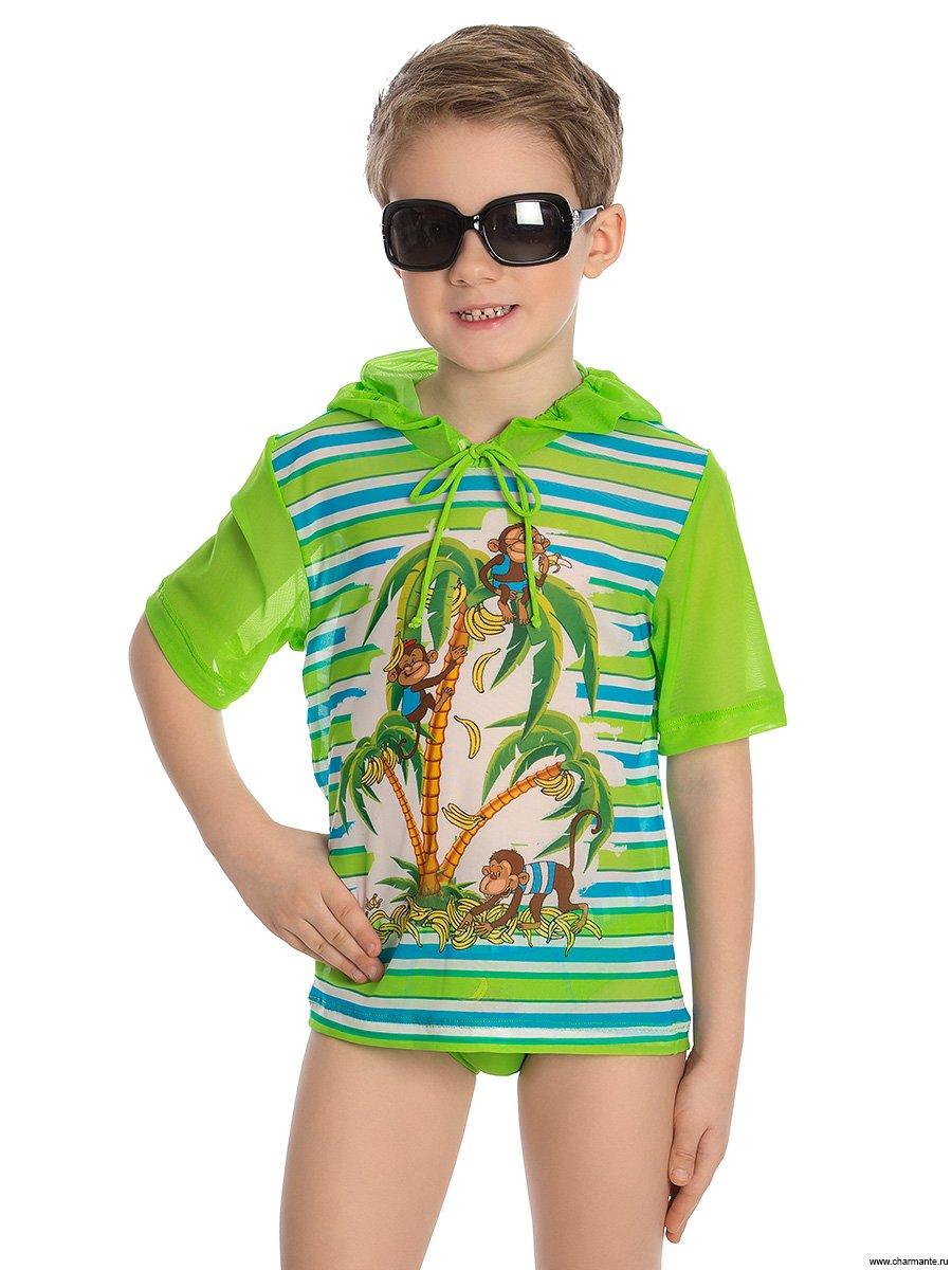 Футболка пляжная для мальчиков, цвет: мультиколор