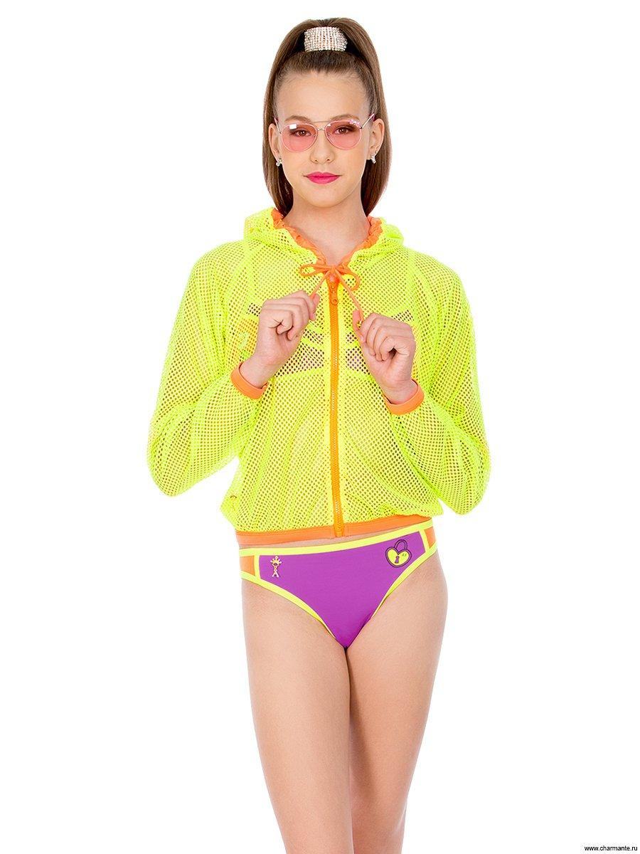 Бомбер пляжный для девочек, цвет: