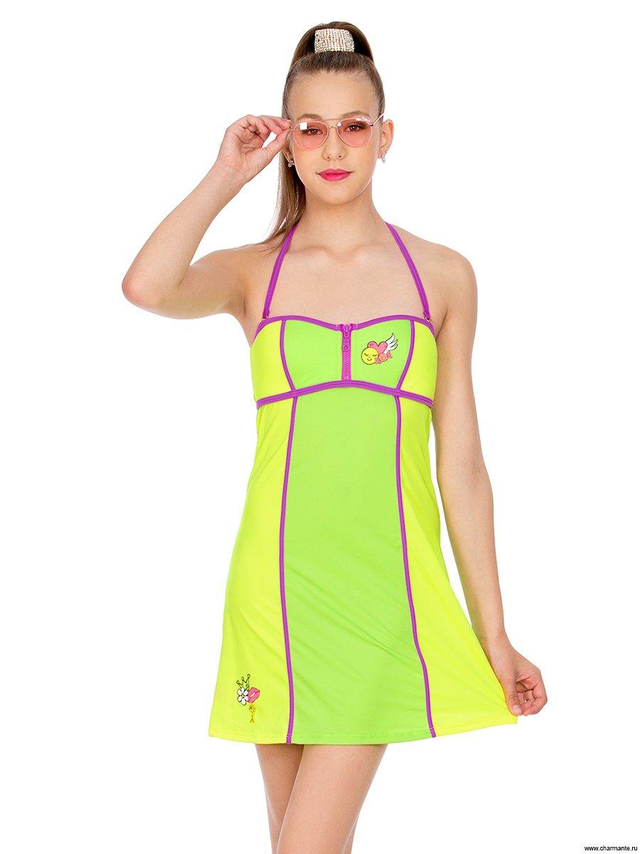 Платье пляжное для девочек-подростков, цвет:
