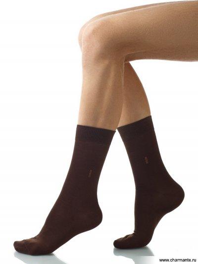Купить Носки мужские хлопок SCHM-1008, Charmante, темно-коричневый