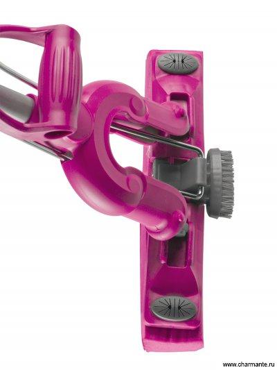 Отжимная швабра-бабочка с ПВА-насадкой швабра loks super cleaning с насадкой pva и дополнительной щеткой цвет розовый