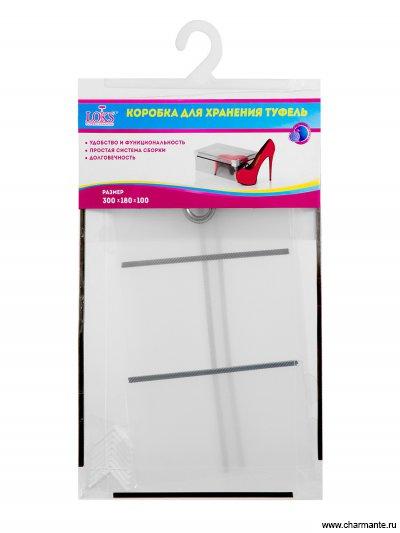 Коробка для хранения женских туфель со съемной крышкой 30*18*10 L102-101 от Charmante