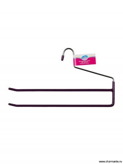 Вешалка для брюк двойная, с ПВХ-покрытием размер: 34,5х18,5 см