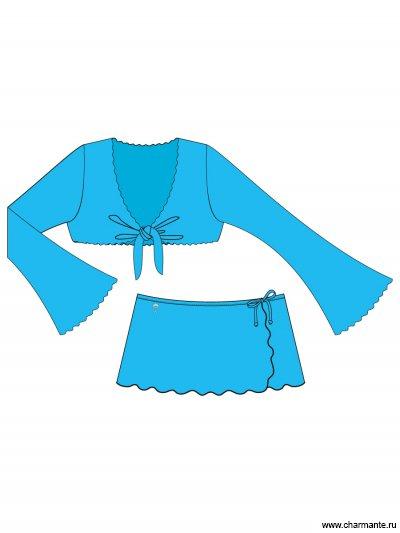 Костюм пляжный для девочек Charmante GT/GN 011405A AF Nonne