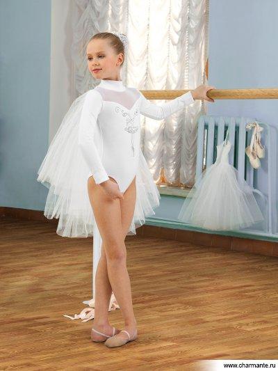 Купить Купальник спортивный (боди) для девочек SGB201004, Charmante, белый