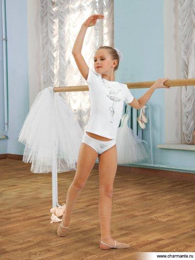 Купить Комплект для девочек (футболка, трусы) SGFP 201029, Charmante, белый