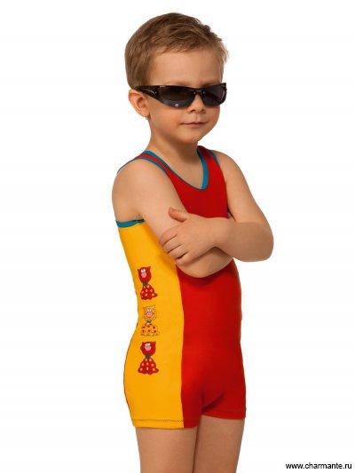 Купить Комбинезон для мальчиков BO051214 Pandilla, Charmante, оранжевый/горошек на жёлтом