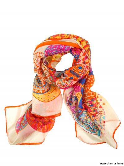 Шелковый шифоновый шарф Charmante SHSFL032
