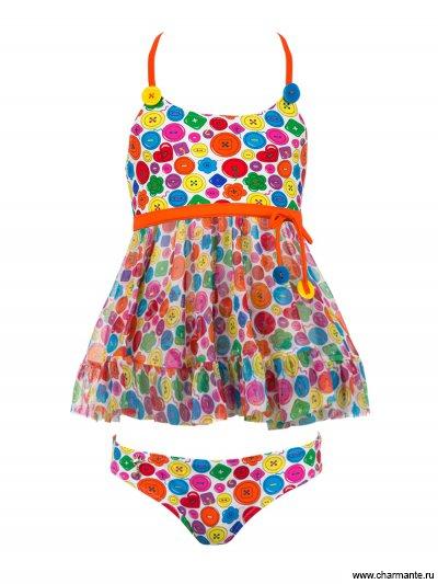 Платье пляжное для девочек + плавки Charmante GPQ 041407 AF Agnesina