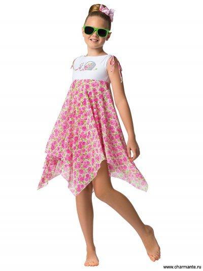 Купить Пляжное платье для девочек GQ021506 Pinky, Charmante, мультиколор