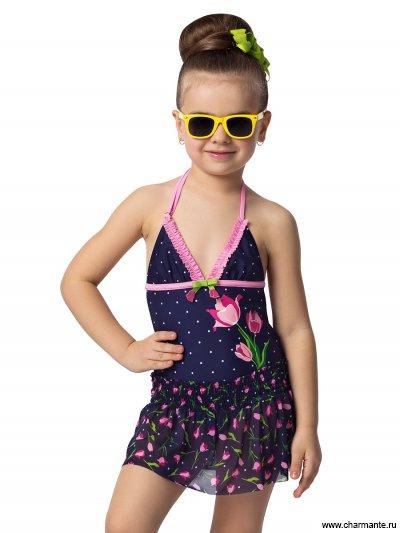 Купить Купальник для девочек + юбка GSN041504 Tulipina, Charmante, мультиколор