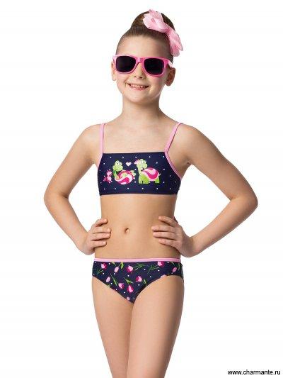 Купить Купальник для девочек (бюст, плавки, юбка) GBZ041505 Nectarina, Charmante, мультиколор
