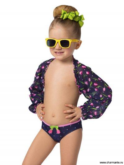 Комплект пляжный для девочек (плавки+рукава)