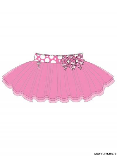 Купить Юбка пляжная для девочек + ободок GN 031505C AF Belinda, Charmante, розовый