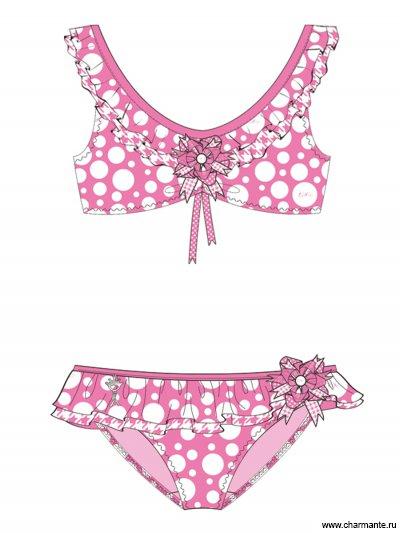 Купить Купальник для девочек + ободок GB 031503C AF Brooke, Charmante, розовый