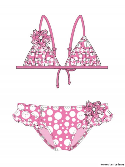 Купить Купальник для девочек + ободок GB 031502С AF Barbie, Charmante, розовый