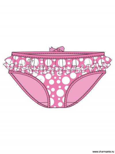 Плавки пляжные для девочек + ободок