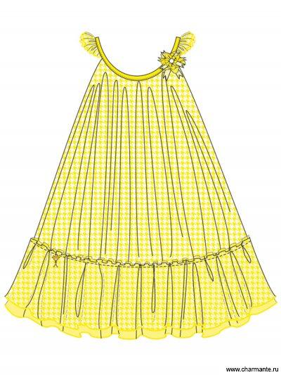 Пляжное платье для девочек + сумочка