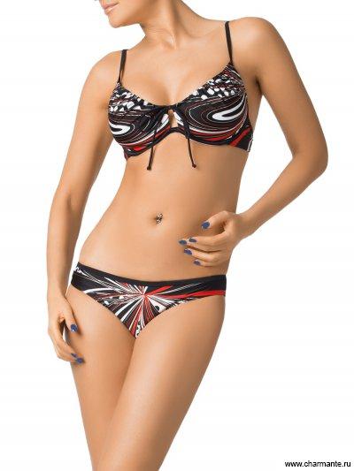 Купить Купальник женский WDH(XL)231507 Euterpe, Charmante, чёрный/белый/красный