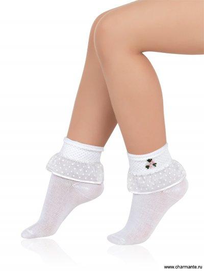 Носки детские хлопковые с кружевом SAA-1404 от Charmante