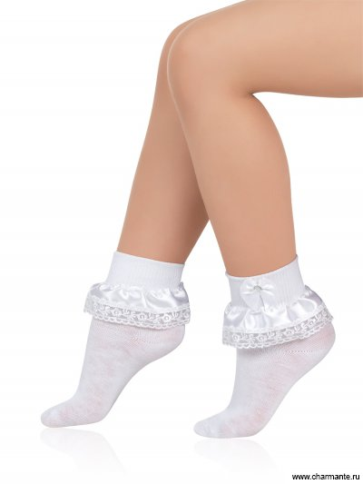 Носки детские хлопковые с кружевом Charmante SAA-1403
