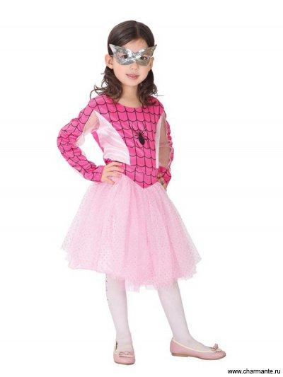 Купить Костюм карнавальный для девочек (Розовый человек-паук) GCH-1118A, Charmante