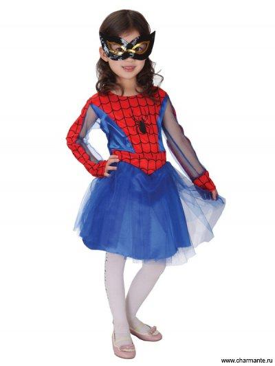 Костюм карнавальный для девочек (Человек-паук)