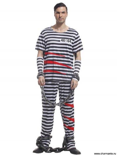 Костюм карнавальный для мужчин (Заключенный)