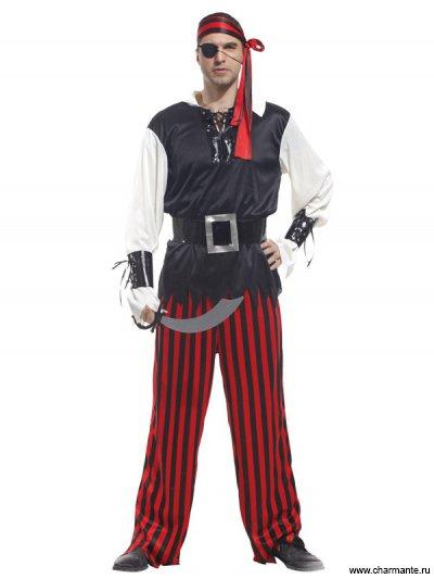 Костюм карнавальный для мужчин (Пират-одноглазый)