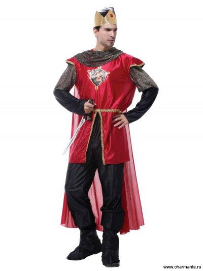 Костюм карнавальный для мужчин (Король в красном)