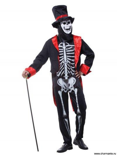 Костюм карнавальный для мужчин (Скелет в смокинге)