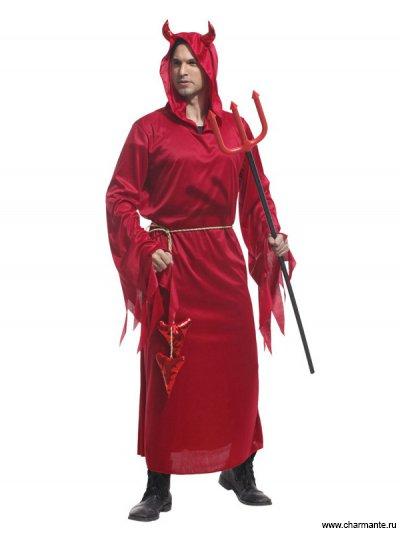 Костюм карнавальный для мужчин (Злой дьявол в красном)