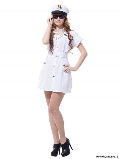 Костюм карнавальный для женщин (Капитанша-морячка) костюм для морской вечеринки