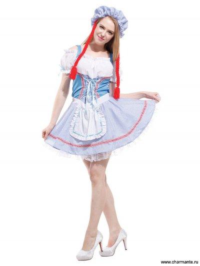 Костюм карнавальный для женщин (Костюм куклы с косичками) костюм для морской вечеринки