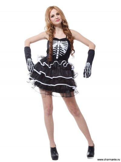 Костюм карнавальный для женщин (Скелет)