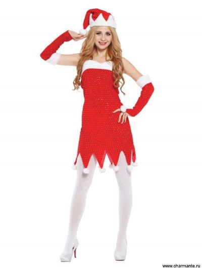 Костюм карнавальный для женщин (Санта-Клаус)