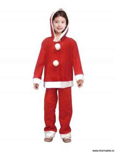 Костюм карнавальный для девочек (Санта-Клаус) Charmante XCH-1008