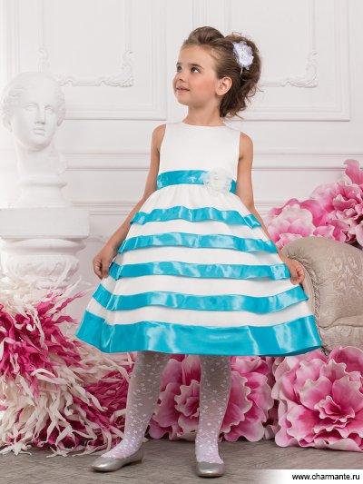 Платье праздничное для девочек+болеро Charmante PSAK071402