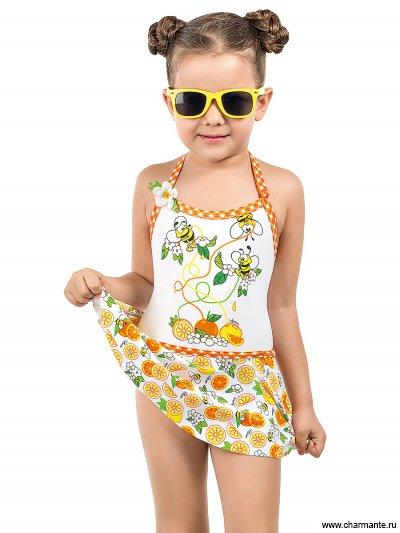 Купить Купальник для девочек слитный GS 041601 Сitrus mix, Charmante, мультиколор