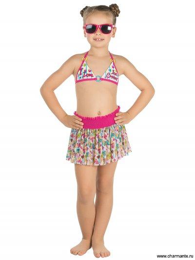 Купить Купальник для девочек (бюст, плавки, юбка) GMU 051603 Kiwi, Charmante, мультиколор