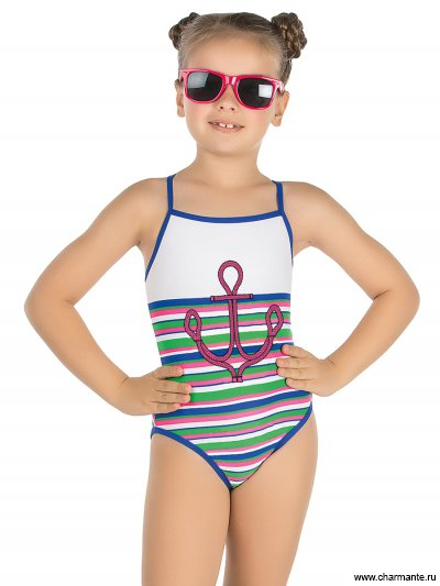 Купальник для девочек слитный Charmante GS 011609 Vasto Marina