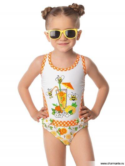 Купить Купальник для девочек GI 041604 Orange sherbet, Charmante, мультиколор